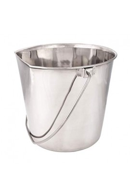 Show Tech Stainless Steel Water Flat Sided Cage Pail