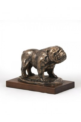 Art-Dog Bulldog on Wood base