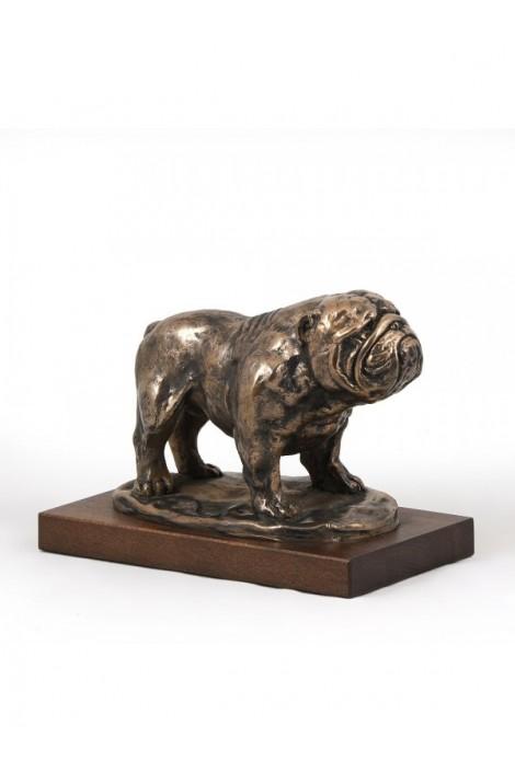 Art-Dog Bulldog on Wood base