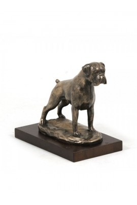 Art-Dog Boxer on Wood base