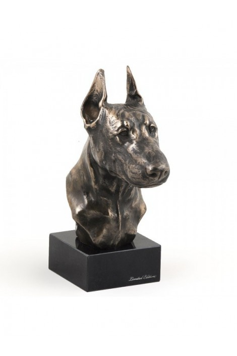 Διακοσμητικό Αγαλματίδιο Art-Dog - Προτομή Doberman Pincher  σε μαρμάρινη βάση