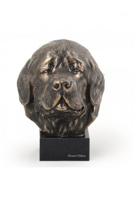 Art-Dog Newfoundland  Head Figurine made of resin on marble base