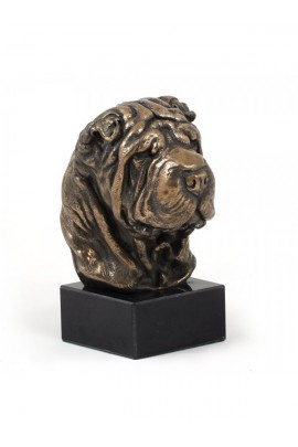 Art-Dog Shar Pei  Head Figurine on marble base