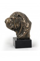 Art-DogShar Pei  Head Figurine made of resin on marble base