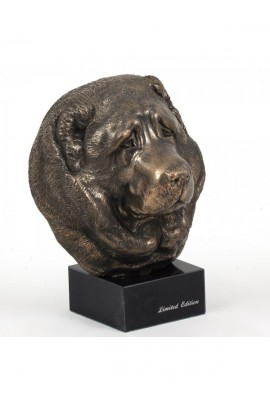Art-Dog Caucasian Shepherd Dog Head Figurine on marble base