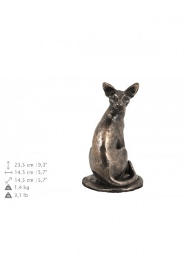 Art-Dog Egyptian Mau Cat on Wood base