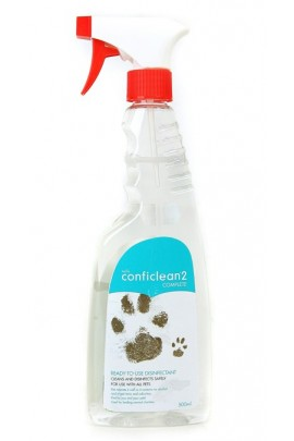 Petlife Conficlean2 Complete Ready to Use Unsented Disinfectant Spray 500ml