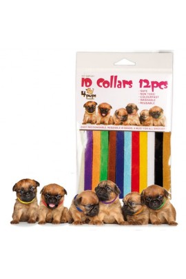 4Pups ID Collars - 12 Colored Adjustable Identification Collars for Dog or Cat Litter