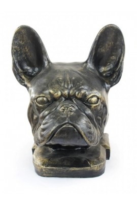 Art-Dog French Bulldog Head Figurine made of resin