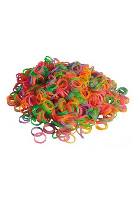 Show Tech Latex Bands Neon Mix Medium Weight 8mm 100 or 1000 pcs